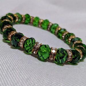 NWOT Green Jeweled Bracelet